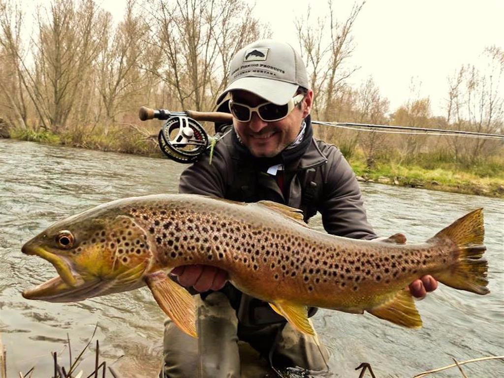 Carles viv fly fishing guide large trout in river segre for River trout fishing